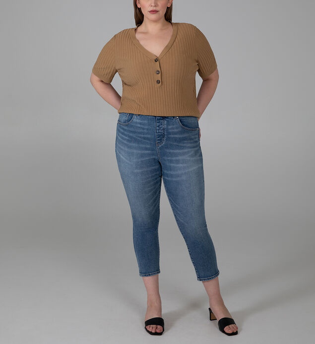 Valentina High Rise Crop Pull-On Jeans Plus Size
