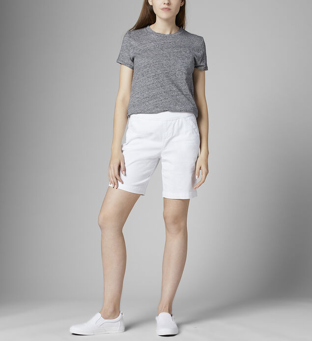Gracie Mid Rise Short Petite, White, hi-res