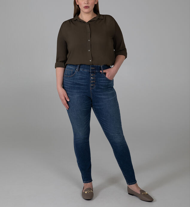 Valentina High Rise Skinny Pull-On Jeans Plus Size, , hi-res