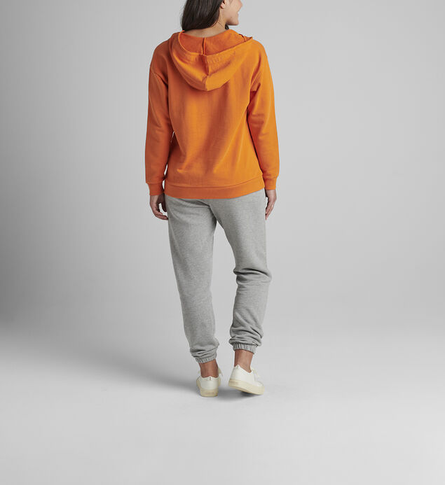 The Lace Up Hoodie, Amber Glow, hi-res