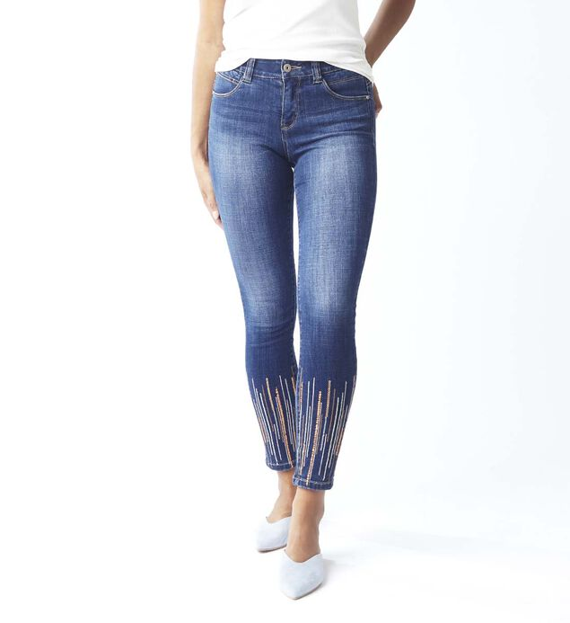 Cecilia Skinny With Sequins, , hi-res