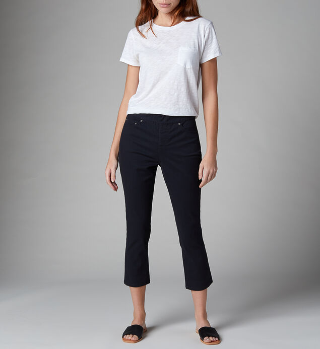 Maya High Rise Skinny Crop Jeans Petite, Black, hi-res