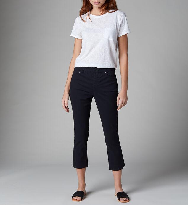 Maya High Rise Skinny Crop Jeans, Black, hi-res