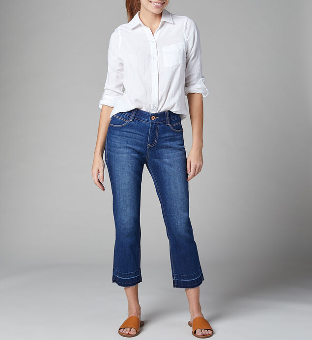 Ruby Mid Rise Straight Crop Jeans, , hi-res