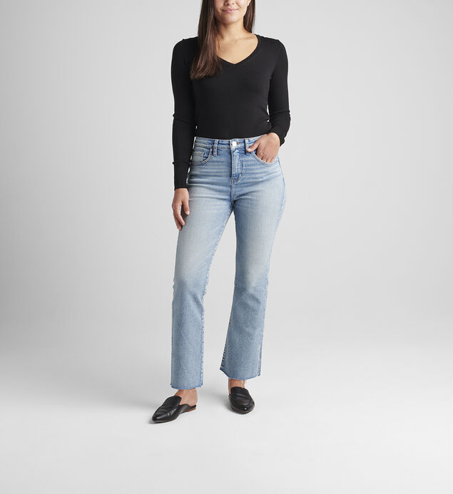 Phoebe High Rise Cropped Bootcut Jeans