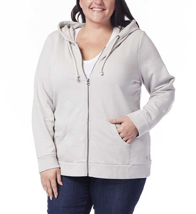 Plus Edie Zip Up Hoodie, Antarctica, hi-res