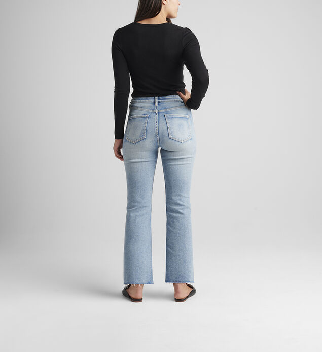 Phoebe High Rise Cropped Bootcut Jeans, , hi-res