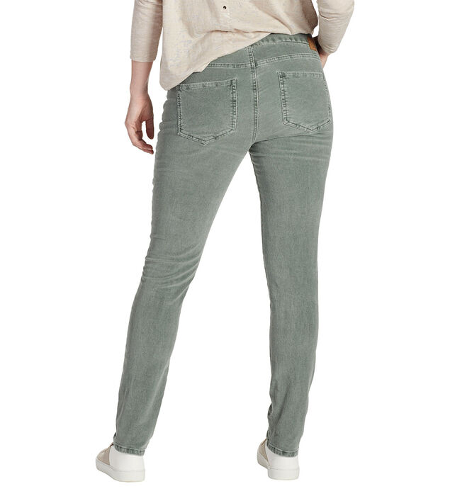 Nora Skinny Corduroy Light Willow Back