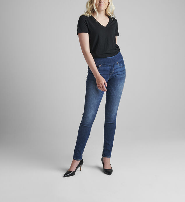 Nora Mid Rise Skinny Pull-On Jeans