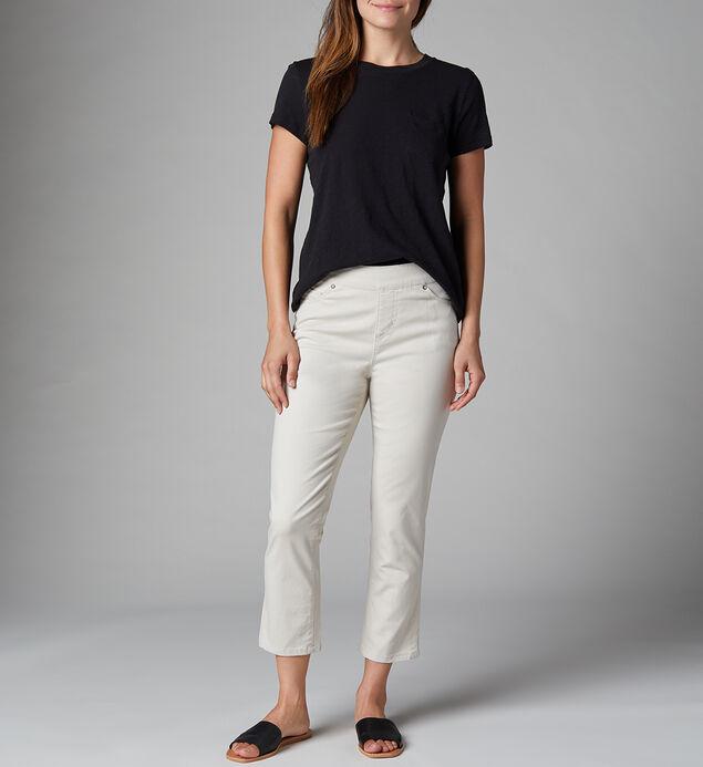 Maya High Rise Skinny Crop Jeans Petite, Stone, hi-res