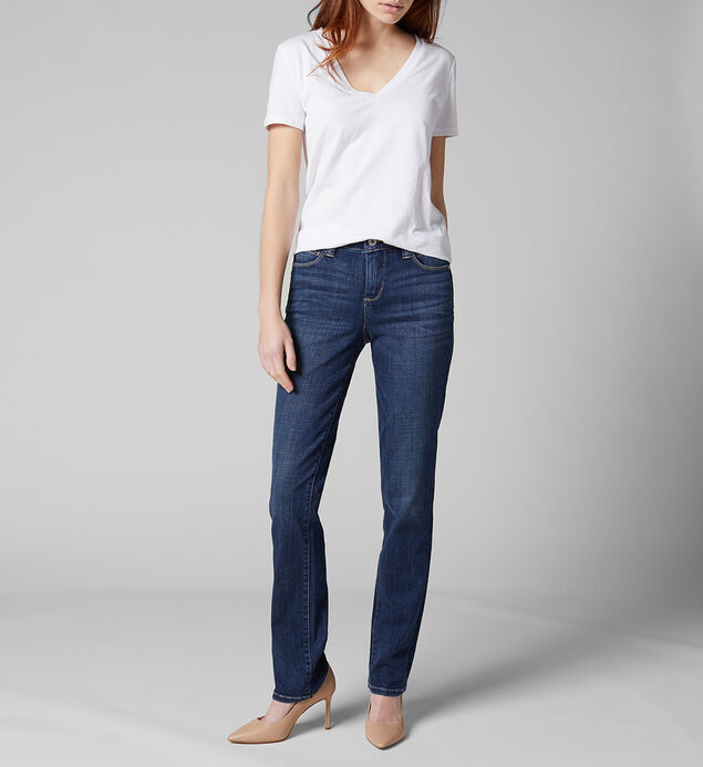 Ruby Mid Rise Straight Leg Jeans Plus Size, , hi-res