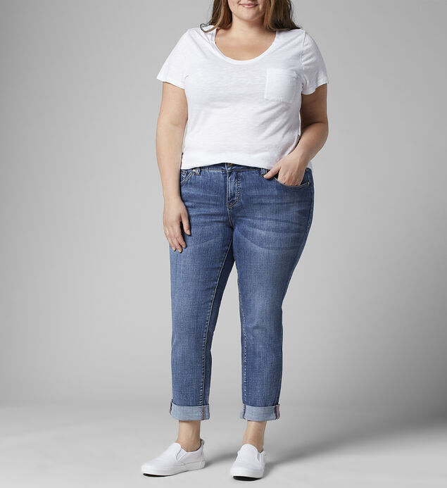 Carter Mid Rise Girlfriend Jeans Plus Size, , hi-res