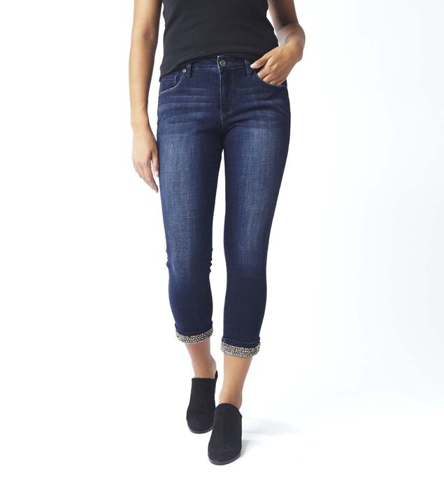 Maddie Skinny with Beaded Cuff, , hi-res