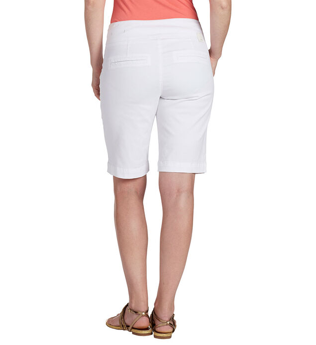 Petite Ainsley Bermuda, White, hi-res