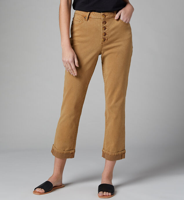 Joan High Rise Straight Crop Jeans