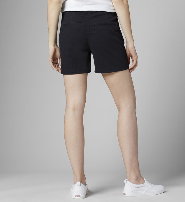 "Gracie Mid Rise 5"" Pull-On Short, Black, hi-res"