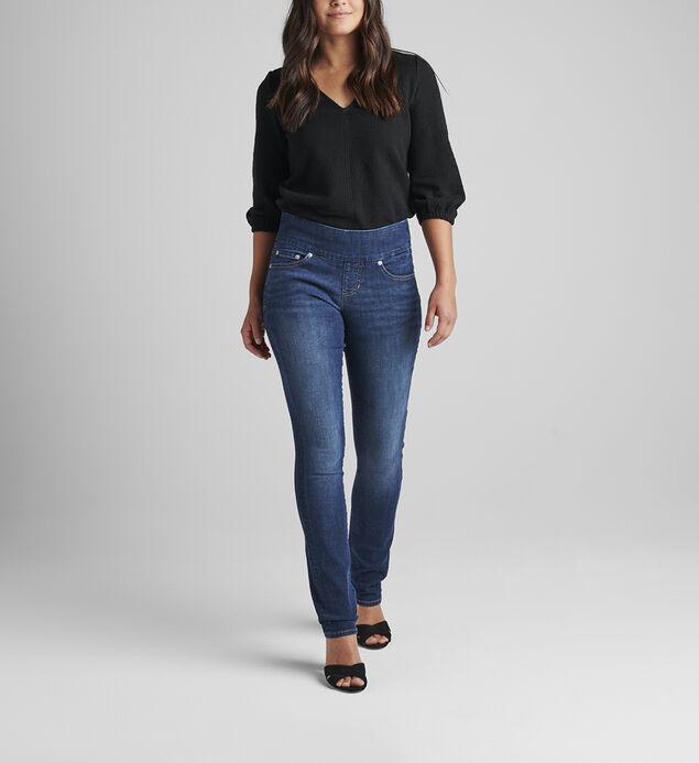 Peri Mid Rise Straight Leg Pull-On Jeans