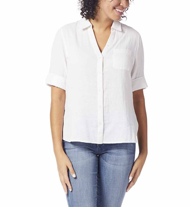 Adley Button Up, White, hi-res