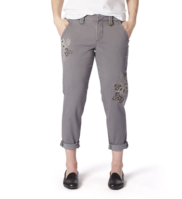 Dana Chino With Embroidery, Grey Streak, hi-res