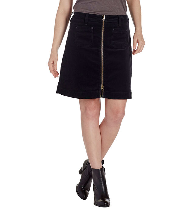 Mccamey Zip Front Skirt, Black, hi-res