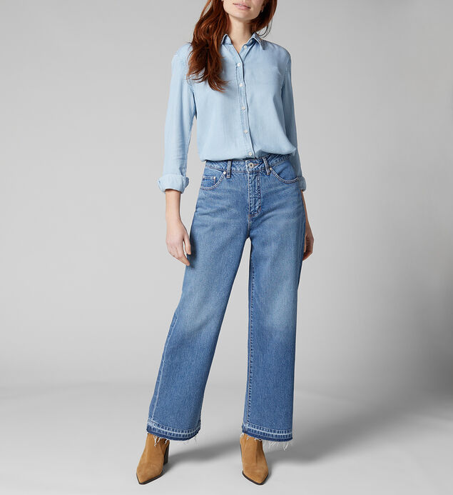 Sophia High Rise Wide Leg Jeans, , hi-res