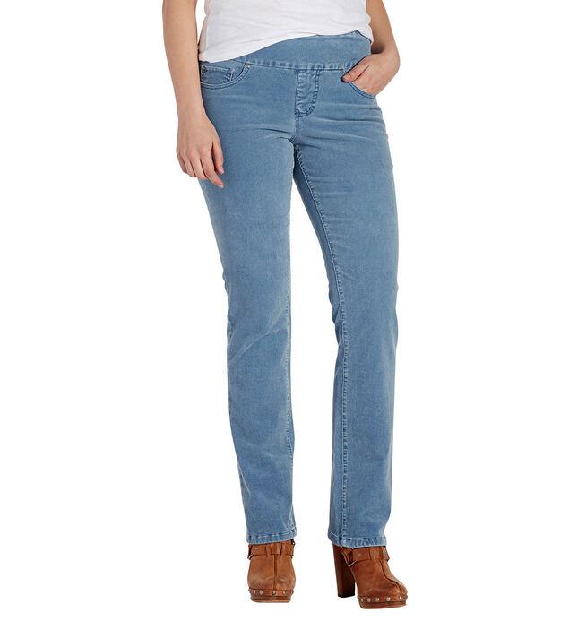 Peri Straight Leg Corduroy Blue Front