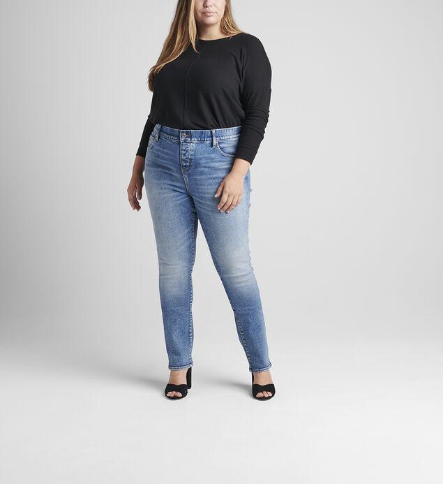 Valentina High Rise Straight Leg Pull-On Jeans Plus Size