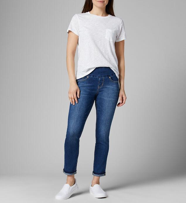 Amelia Mid Rise Slim Ankle Pull-On Jeans