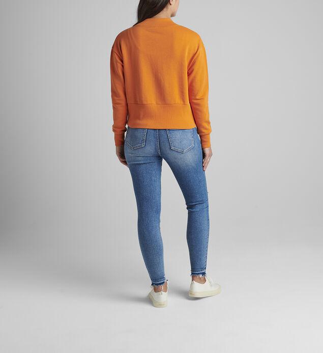 The Cross Front Sweatshirt, Amber Glow, hi-res