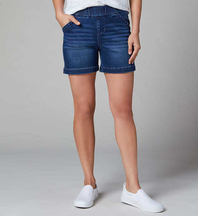 "Gracie Mid Rise 5"" Pull-On Short, , hi-res"