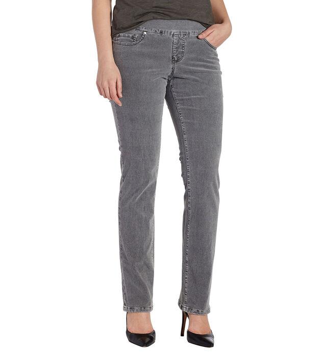 Peri Straight Leg Corduroy Charred Grey Front