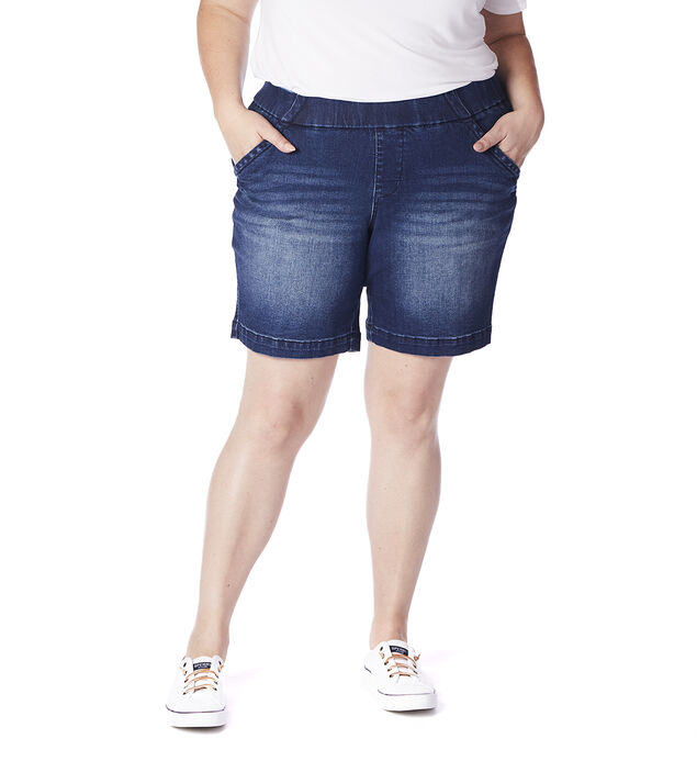 "Gracie Mid Rise 8"" Short Plus Size, , hi-res"