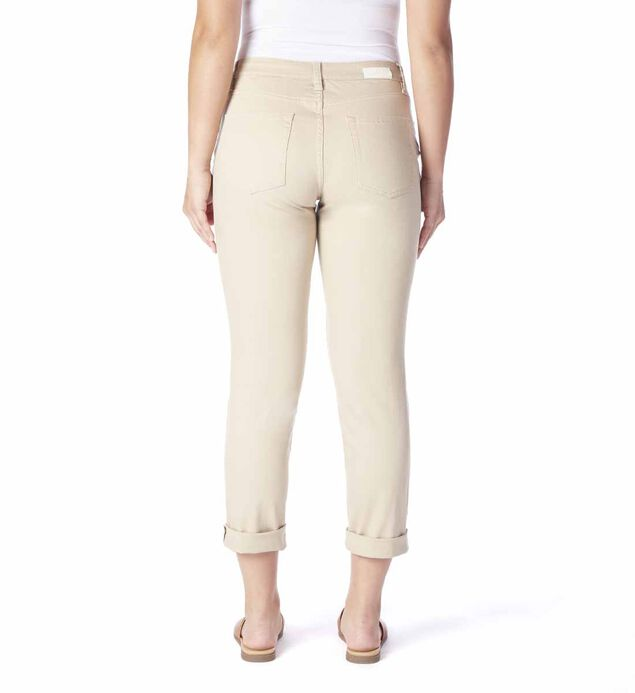 Carter Mid Rise Girlfriend Jeans, Khaki, hi-res