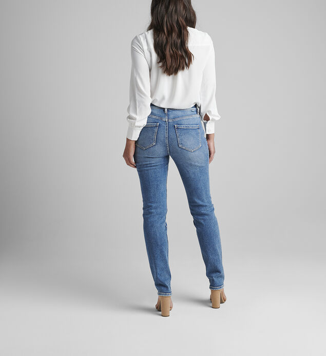 Valentina High Rise Straight Leg Pull-On Jeans Petite, , hi-res
