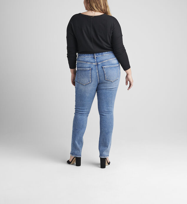 Valentina High Rise Straight Leg Pull-On Jeans Plus Size, , hi-res