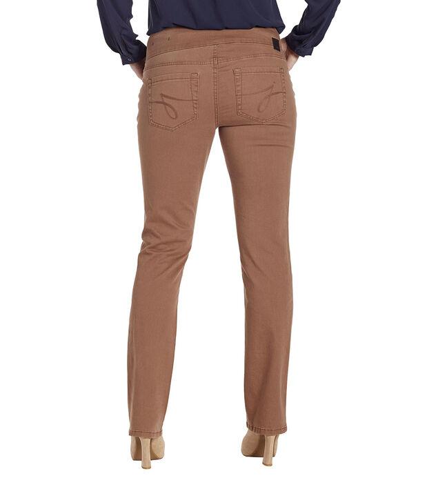 Peri Mid Rise Straight Leg Pull-On Jeans, Birds Nest, hi-res