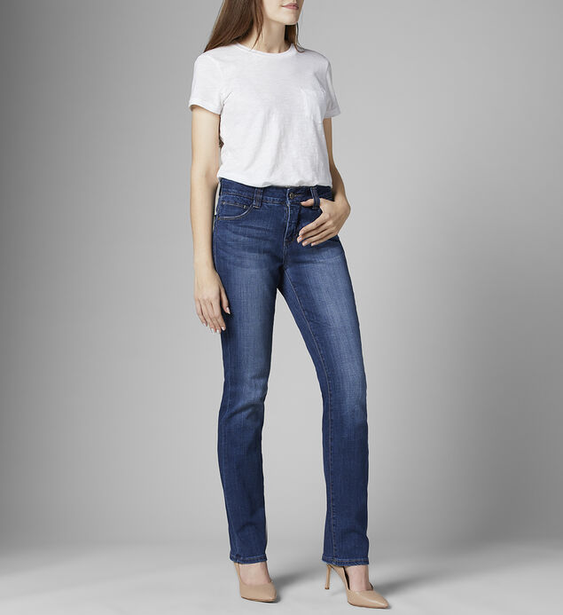 Ruby Mid Rise Straight Leg Jeans