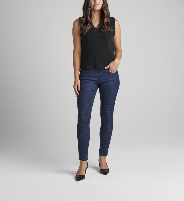 Nora Mid Rise Skinny Pull-On Jeans Petite