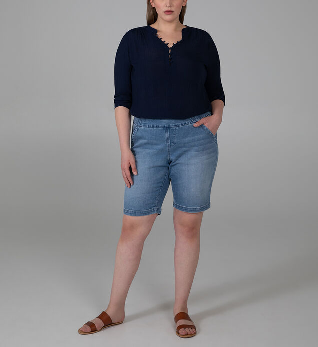 Gracie Mid Rise Bermuda Short Plus Size, , hi-res