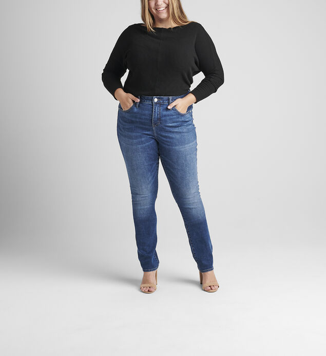 Ruby Mid Rise Straight Leg Jeans Plus Size