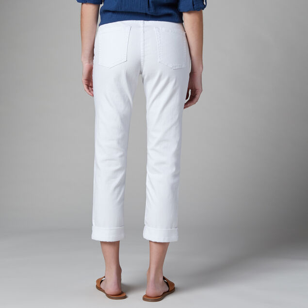 Carter Mid Rise Girlfriend Jeans, White, hi-res