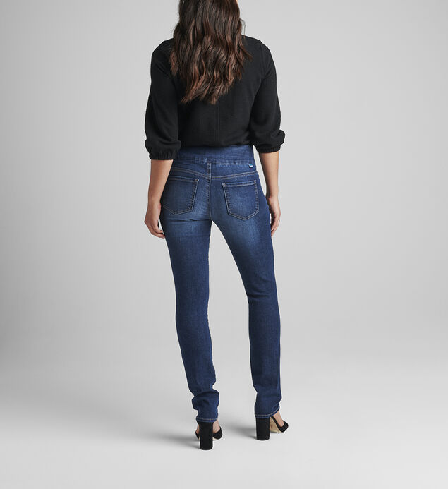 Peri Mid Rise Straight Leg Pull-On Jeans, , hi-res