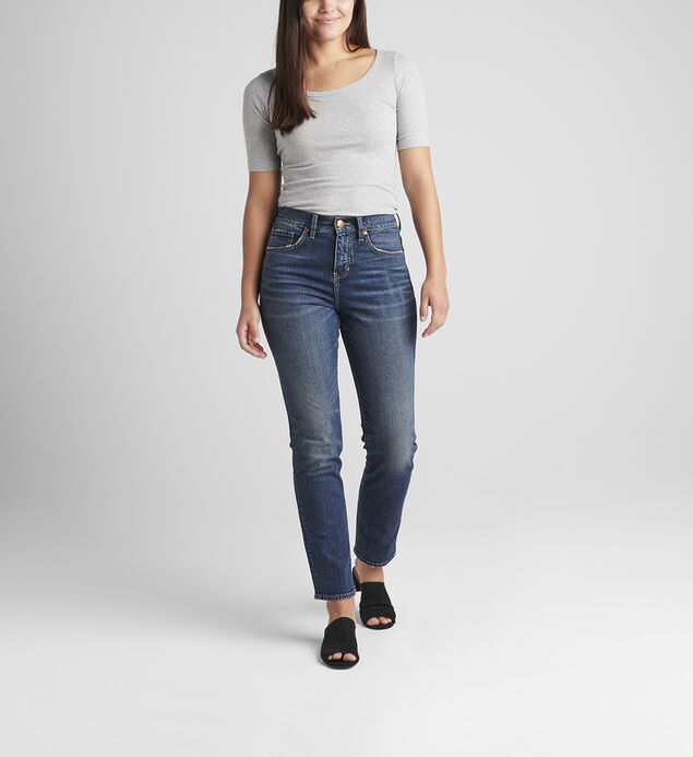 Stella High Rise 30-Inch Straight Leg Jeans