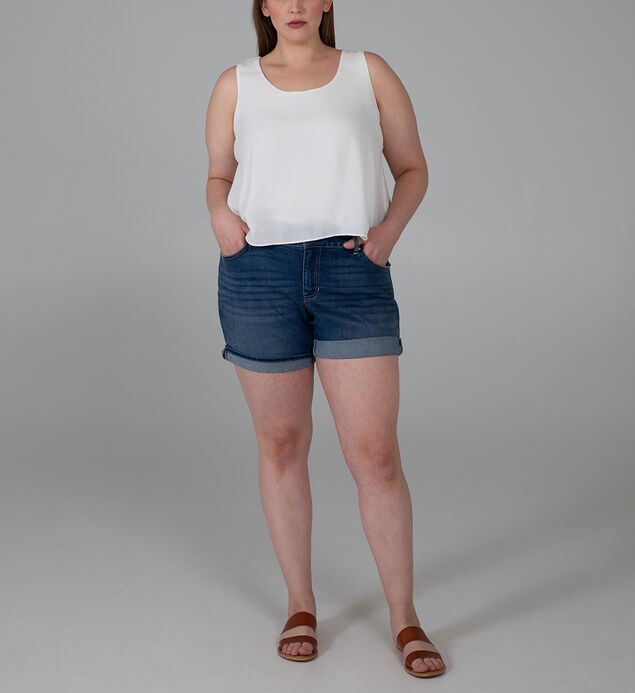 Alex Mid Rise Boyfriend Short Plus Size, , hi-res