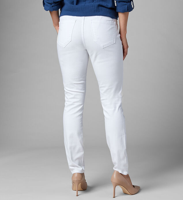 Cecilia Mid Rise Skinny Jeans, White, hi-res