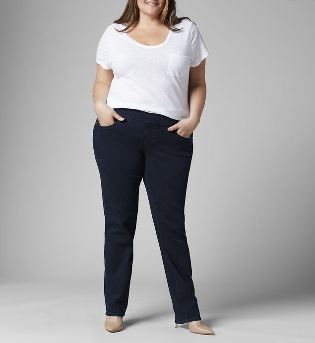 Peri Mid Rise Straight Leg Jeans Plus Size