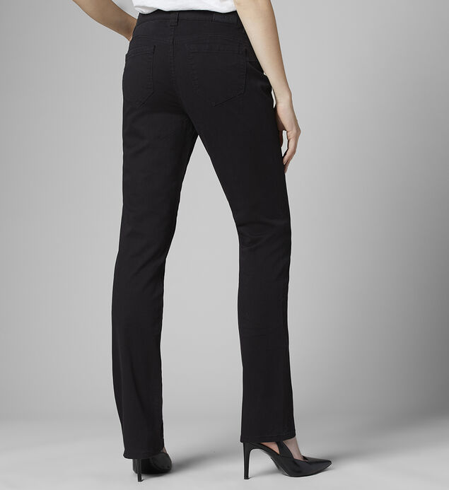 Ruby Mid Rise Straight Leg Jeans, Black, hi-res