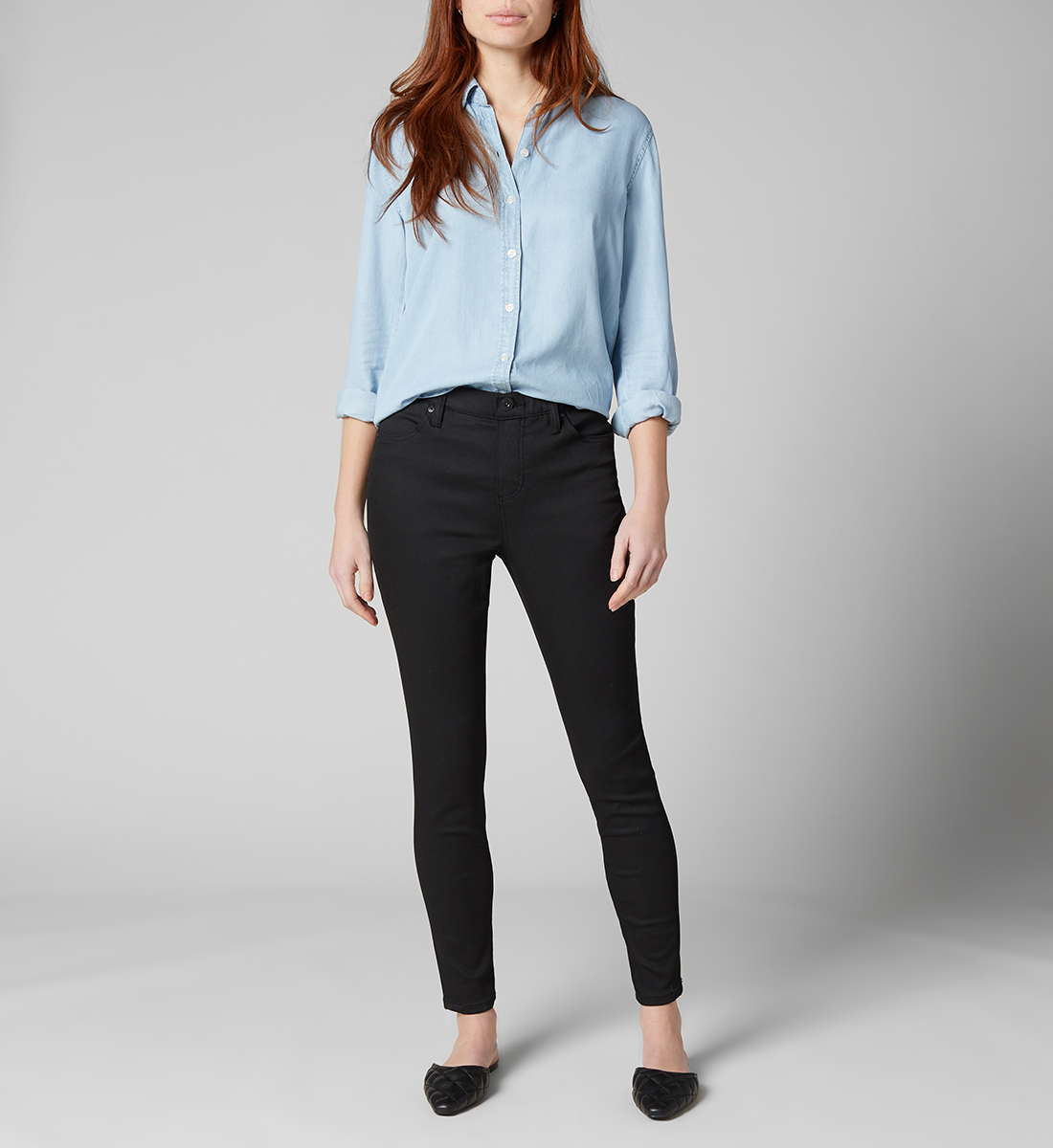 Valentina High Rise Skinny Pull-On Jeans - Sustainable Fabric, , hi-res