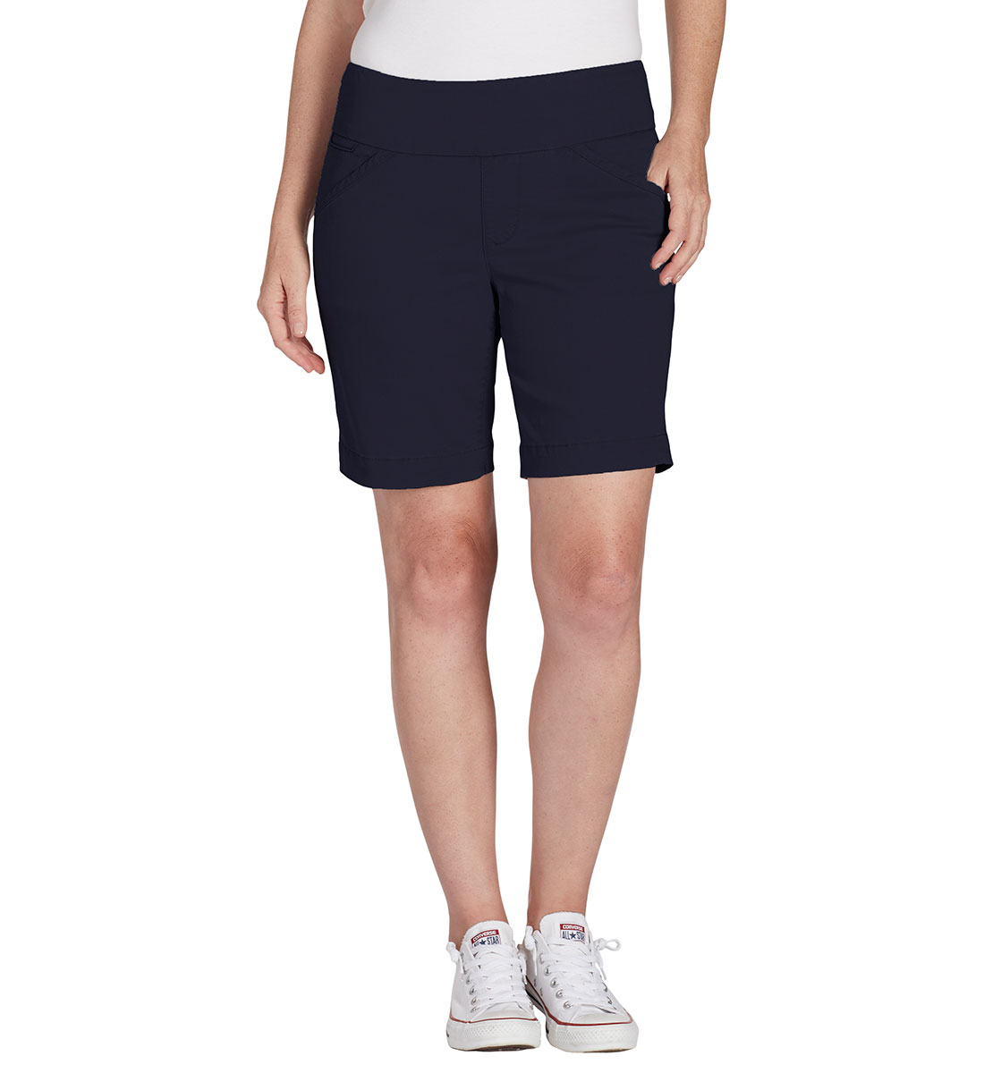 Ainsley Mid Rise Short Petite, Nautical Navy, hi-res
