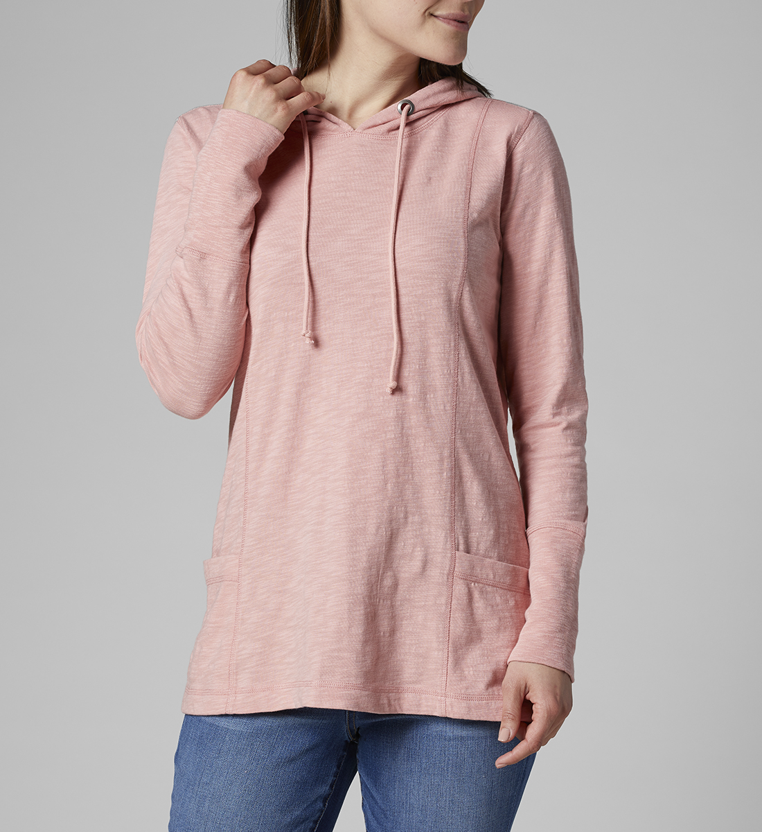 Gemma Hooded Tunic, Coral Blush, hi-res